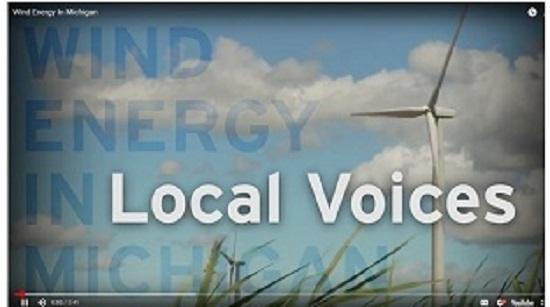 Local voices talking about wind energy in Michigan